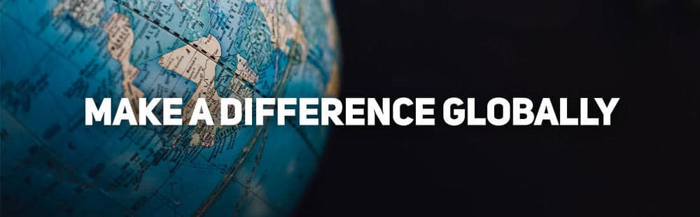 Make a difference globally
