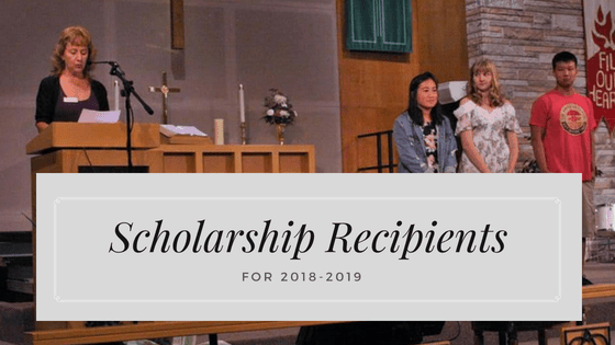 Scholarship Recipients for 2018-2019