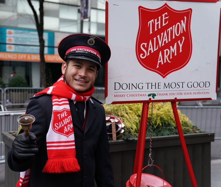 Man ringing bells for salvation army