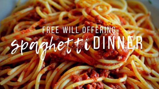 spaghetti dinner at Heart of Longmont