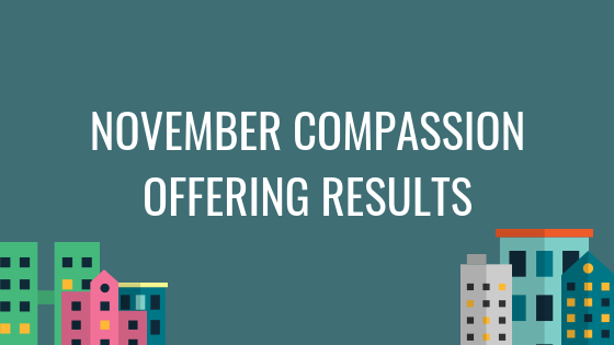 November Compassion Offering Results