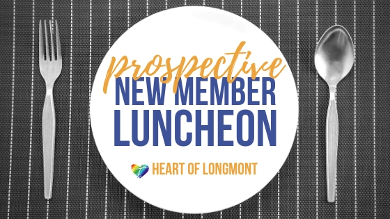 prospective new member luncheon, December 9 at Heart of Longmont