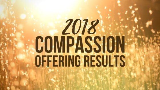 2018 Compassion Offering Results