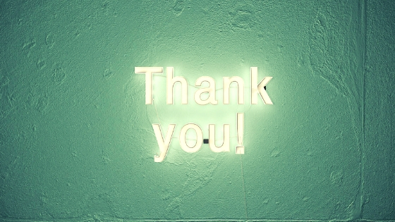 """Thank you"" in lights"