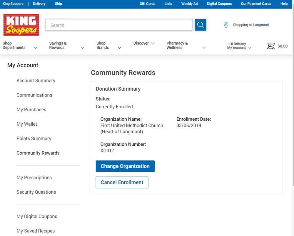 king soopers community rewards