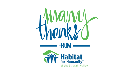 Habitat for Humanity gives thanks