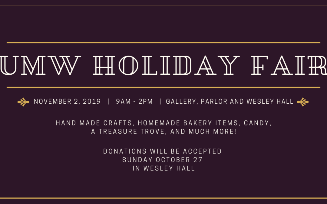 UMW Holiday Fair 2019