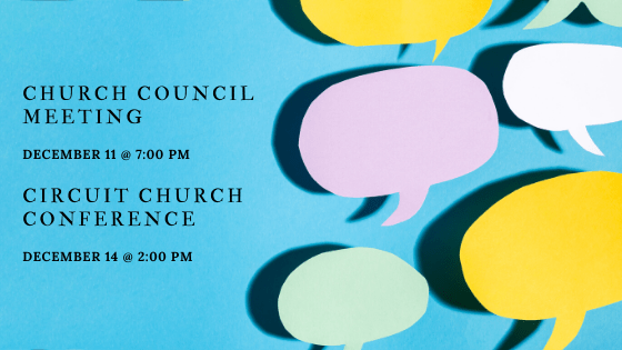 Circuit Church Conference and Church Council Meeting