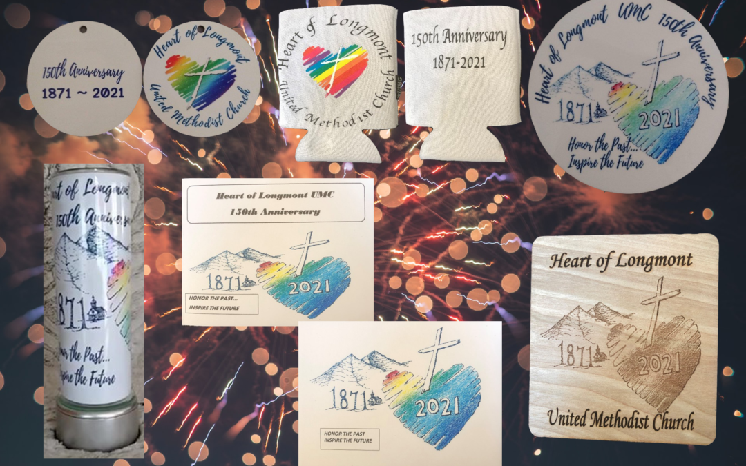 150th Anniversary Heart of Longmont Swag Now Available!